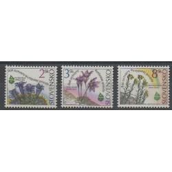 Slovakia - 1995 - Nb 181/183 - Flowers