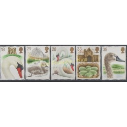 Grande-Bretagne - 1993 - No 1645/1649 - Oiseaux