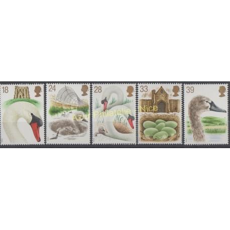 Timbres - Thème oiseaux - Grande-Bretagne - 1993 - No 1645/1649