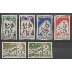 Dahomey - 1963 - No 192/197 - Football