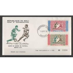Mali - 1970 - Nb PA 101/PA 102 FDC - Soccer World Cup