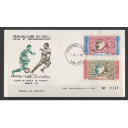 Mali - 1970 - No PA 101/PA 102 FDC - Coupe du monde de football