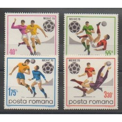 Roumanie - 1970 - No 2539/2542 - Coupe du monde de football