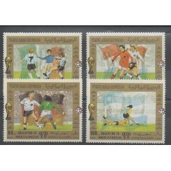 Yemen - Arab republic - 1981 - Nb PA 177/PA 180 - Soccer World Cup