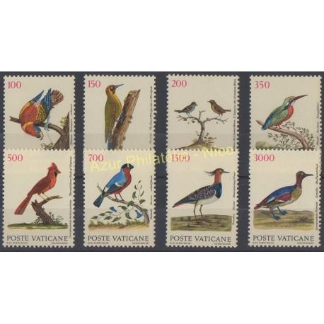 Timbres - Thème oiseaux - Vatican - 1989 - No 852/859