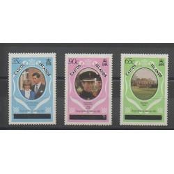 Caiques (Iles) - 1981 - No 8(B)/10(B) - Royauté