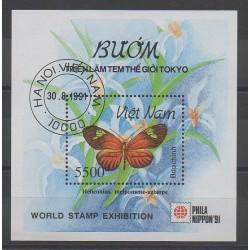 Vietnam - 1991 - No BF69 - Papillons - oblitéré