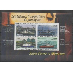Saint-Pierre and Miquelon - Blocks and sheets - 2007 - Nb BF 12 - Boats