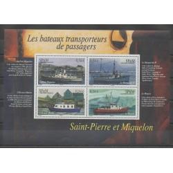 Saint-Pierre et Miquelon - Blocs et feuillets - 2007 - No BF12 - Bateaux