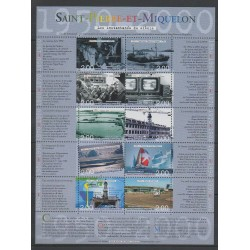 Saint-Pierre and Miquelon - Blocks and sheets - 2000 - Nb BF 9 - Various Historics Themes