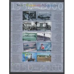 Saint-Pierre et Miquelon - Blocs et feuillets - 2000 - No BF9 - Histoire