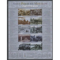 Saint-Pierre and Miquelon - Blocks and sheets - 2000 - Nb BF 8 - Various Historics Themes