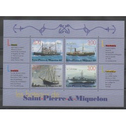 Saint-Pierre and Miquelon - Blocks and sheets - 1999 - Nb BF 7 - Boats