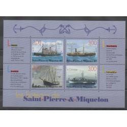Saint-Pierre et Miquelon - Blocs et feuillets - 1999 - No BF7 - Bateaux