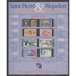 Saint-Pierre and Miquelon - Blocks and sheets - 1999 - Nb BF 6 - Stamps on stamps