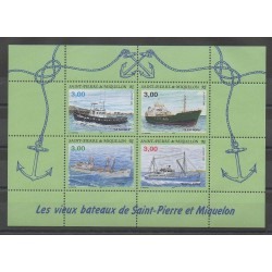 Saint-Pierre and Miquelon - Blocks and sheets - 1996 - Nb BF 5 - Boats
