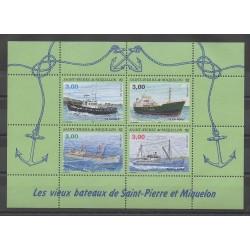 Saint-Pierre et Miquelon - Blocs et feuillets - 1996 - No BF5 - Bateaux