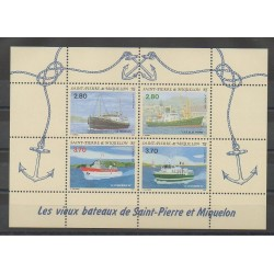 Saint-Pierre and Miquelon - Blocks and sheets - 1994 - Nb BF 4 - Boats