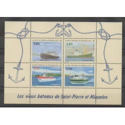 Saint-Pierre et Miquelon - Blocs et feuillets - 1994 - No BF4 - Bateaux