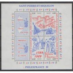 Saint-Pierre and Miquelon - Blocks and sheets - 1989 - Nb BF 3 - French Revolution