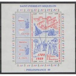 Saint-Pierre et Miquelon - Blocs et feuillets - 1989 - No BF3 - Révolution Française