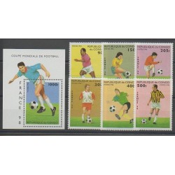 Congo - 1996 - Nb 1041/1046 - BF 65 - Soccer World Cup