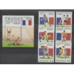 Togo - 1996 - No 1439/1444 - BF 300 - Coupe du monde de football