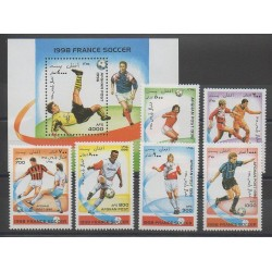 Afghanistan - 1996 - No 1488/1493 - BF 72 - Coupe du monde de football