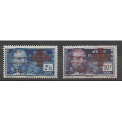 Afrique Equatoriale Française - 1943 - No 165/166