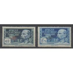 Afrique Equatoriale Française - 1938 - No 64/65 - neuf avec charnière