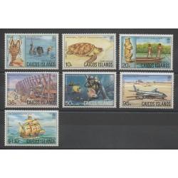 Caiques (Iles) - 1983 - No 11/17 - Bateaux - Vie marine