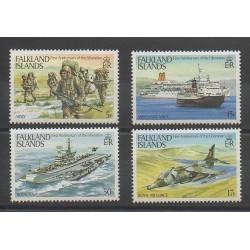 Falkland - 1983 - No 391/394 - Bateaux - Histoire divers