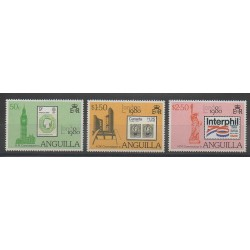 Anguilla - 1980 - No 358/360 - Timbres sur timbres - Expositions