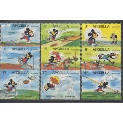 Anguilla - 1984 - No 524/532 - Walt Disney - Jeux olympiques d''été
