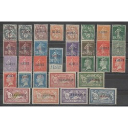 Algeria - 1924 - Nb 1/33 - Nb17 with dvertising spot