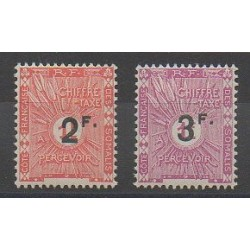 Côte des Somalis - 1927 - No T9/T10 - Neuf avec charnière