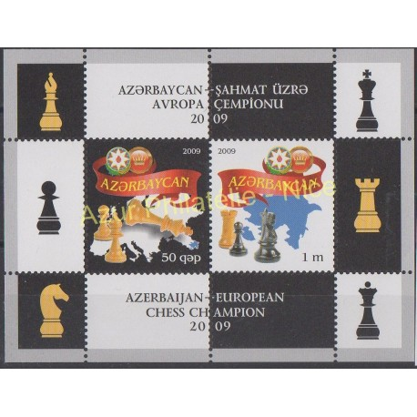 Stamps - Theme chess - Azerbaijan - 2009 - Nb BF 80