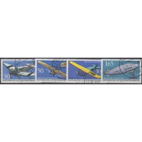 Allemagne - 1991 - No 1354/1357 - Avions - Oblitéré