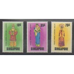 Singapore - 1976 - Nb 256/258 - Costumes