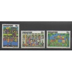 Singapour - 1977 - No 284/286 - Dessins d'enfants
