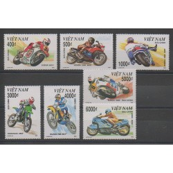 Vietnam - 1992 - Nb 1301/1307 - Motorcycles