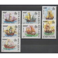 Vietnam - 1991 - No 1183/1189 - Christophe Colomb - Bateaux