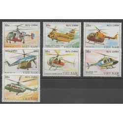 Vietnam - 1988 - Nb 869/875 - Helicopters