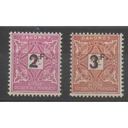 Dahomey - 1927 - No T17/T18 - Neuf avec charnière