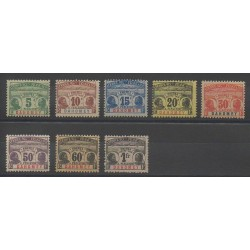 Dahomey - 1906 - Nb T1/T8 - Mint hinged