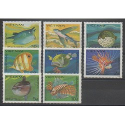Vietnam - 1984 - Nb 505A/505H - Fishes