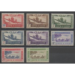 Ivory Coast - 1942 - Nb PA10/PA17
