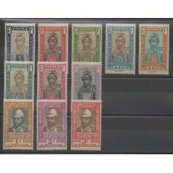 Gabon - 1930 - Nb T12/T22 - Mint hinged