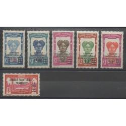 Gabon - 1926 - No 110/115 - Neuf avec charnière