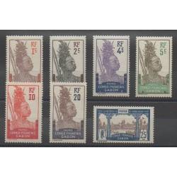 Gabon - 1910 - Nb 33/39